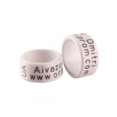 RING personalized PLASTIC laser engraved, color WHITE