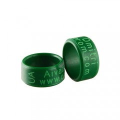 RING personalized PLASTIC laser engraved, color GREEN