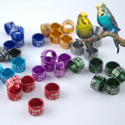 Parrot rings (aluminium), 6mm