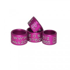 RING personalized ALUMINIUM laser engraved, color PURPLE