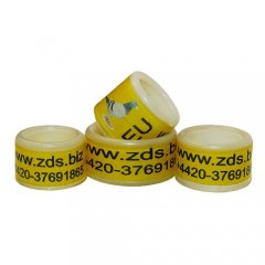 RING personalized PLASTIC color YELLOW