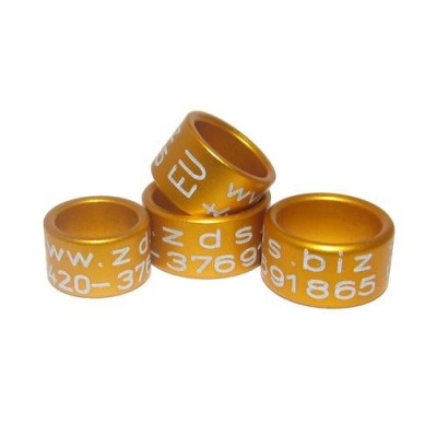 RING personalized ALUMINIUM laser engraved, color YELLOW/ORANGE/GOLD
